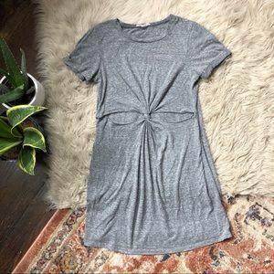 Honey Punch Grey Cutout T-Shirt Dress